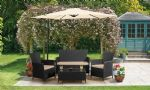 BLACK RATTAN FURNITURE SET
